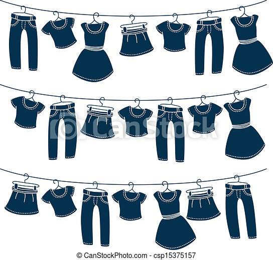 clothes on washing line - csp15375157