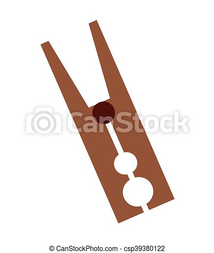 clothes peg isolated icon - csp39380122