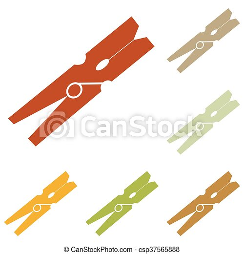 Clothes peg sign - csp37565888