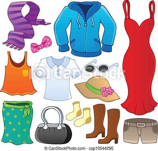 Clothes theme collection 1 - csp10544295