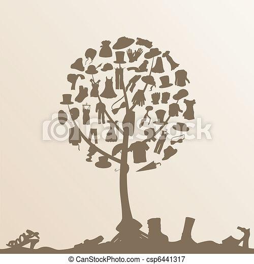 Clothes tree - csp6441317