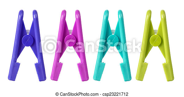 Clothespin on white background - csp23221712