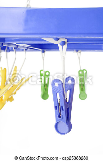 clothespin on white background - csp25388280