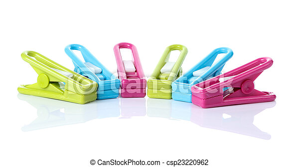 Clothespin on white background - csp23220962