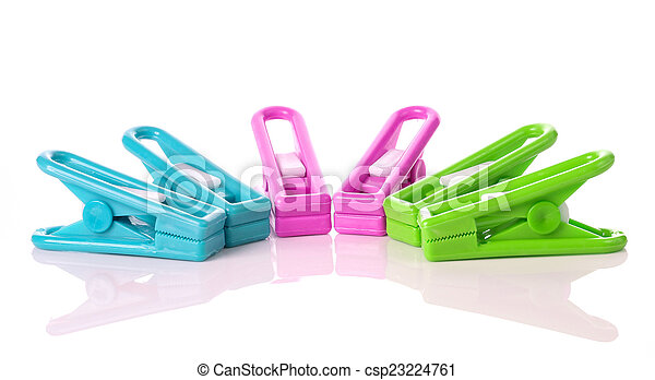 Clothespin on white background - csp23224761
