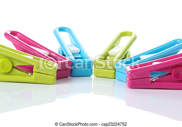 Clothespin on white background - csp23224752
