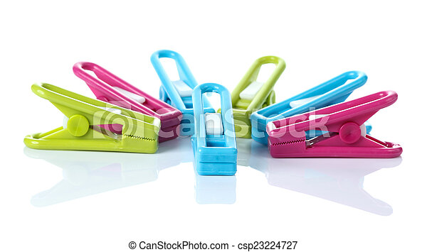 Clothespin on white background - csp23224727
