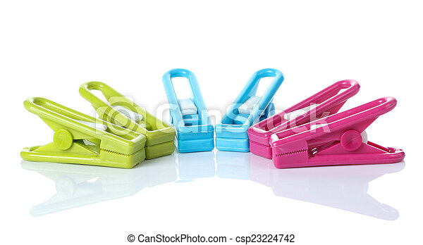 Clothespin on white background - csp23224742