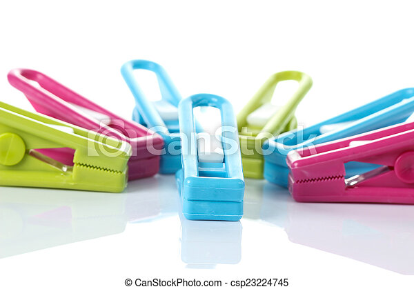 Clothespin on white background - csp23224745