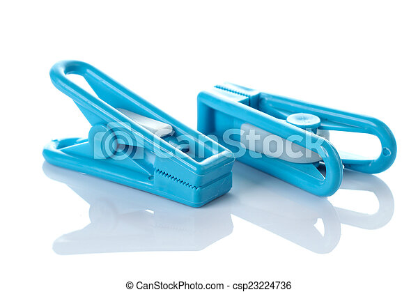 Clothespin on white background - csp23224736