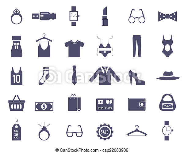 Clothing and Accessories Themed Graphics - csp22083906