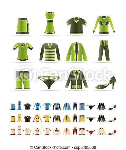 Clothing Icons - Vector Icon Set - csp5485688