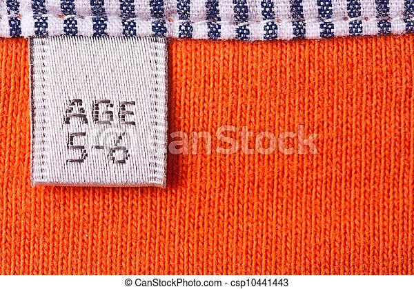 Clothing label - csp10441443