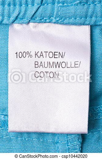 Clothing label - csp10442020