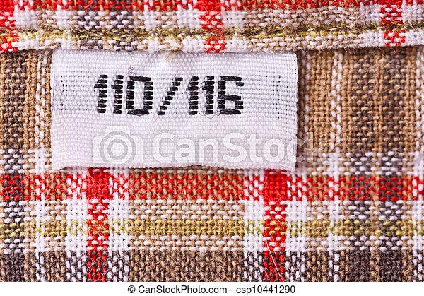 clothing label - csp10441290