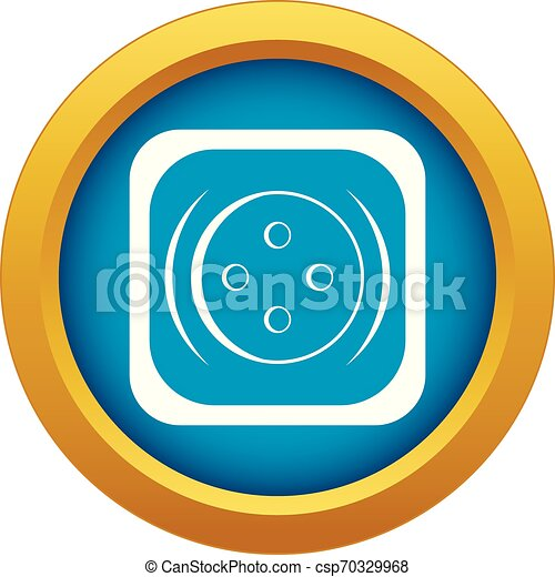 Clothing square button icon blue vector isolated - csp70329968