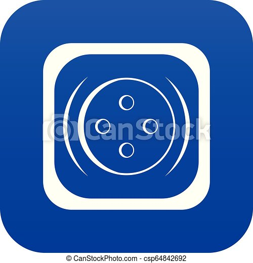 Clothing square button icon digital blue - csp64842692