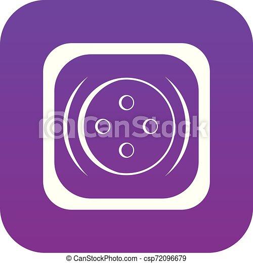 Clothing square button icon digital purple - csp72096679