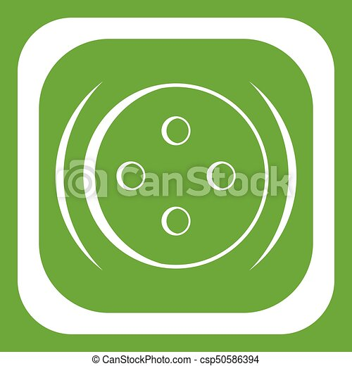 Clothing square button icon green - csp50586394