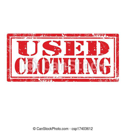 clothing-stamp, gebruikt - csp17403612
