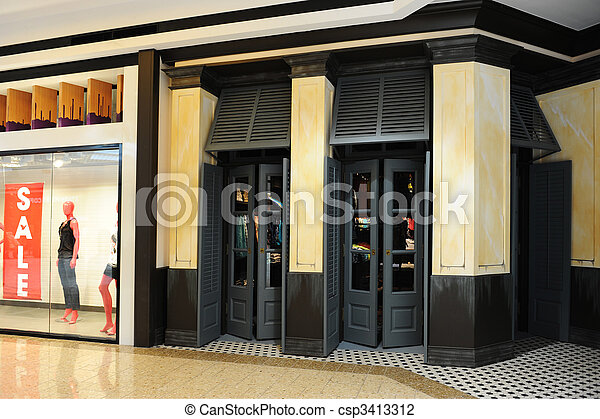 Clothing Store Front - csp3413312