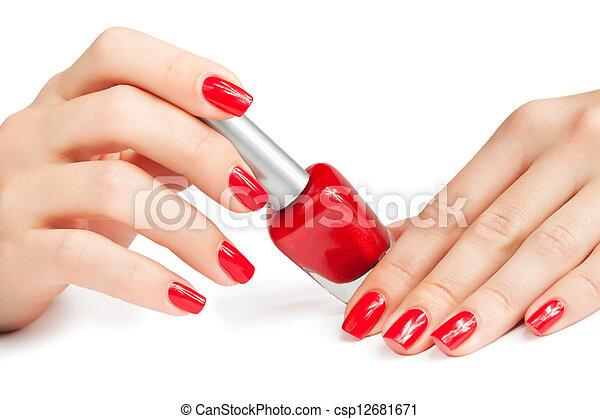 clou, demande, polish., manicure., isolé - csp12681671