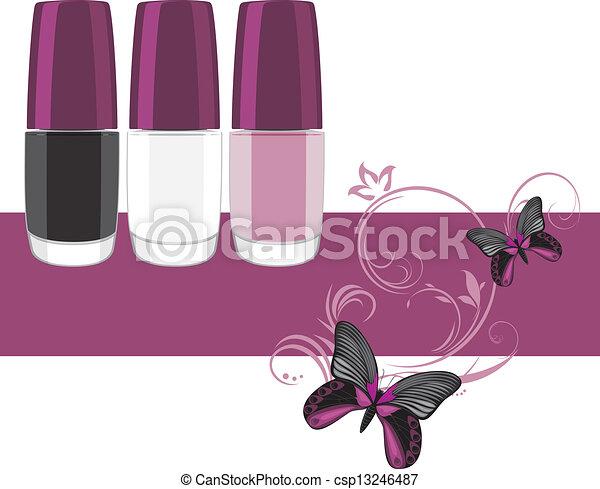 clou, polish., bannière, trois - csp13246487
