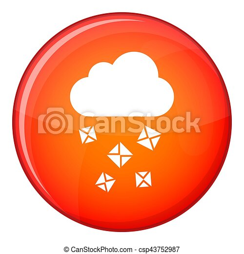 Cloud and hail icon, flat style - csp43752987
