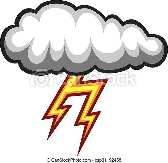 cloud and lightning bolt icon dark cloud and thunder bolt rh canstockphoto com