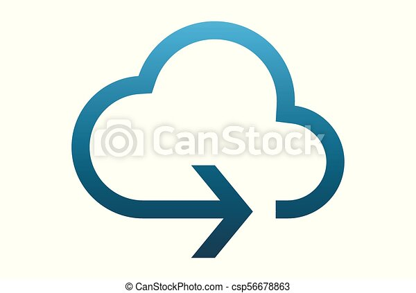 cloud arrow logo vector - csp56678863