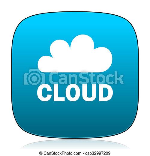 cloud blue icon - csp32997209