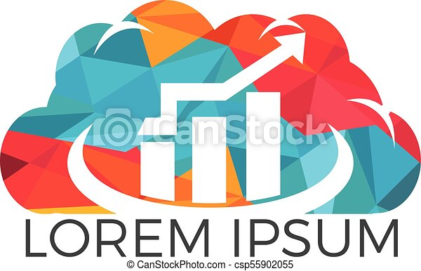 Cloud Business Finance professional logo design. - csp55902055