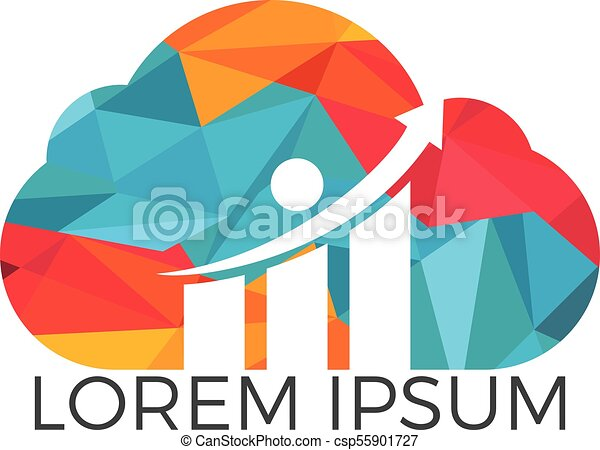 Cloud Business Finance professional logo design. - csp55901727