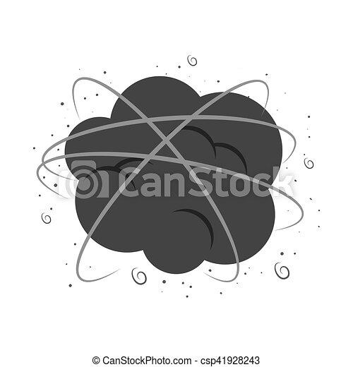 cloud comic isolated icon - csp41928243