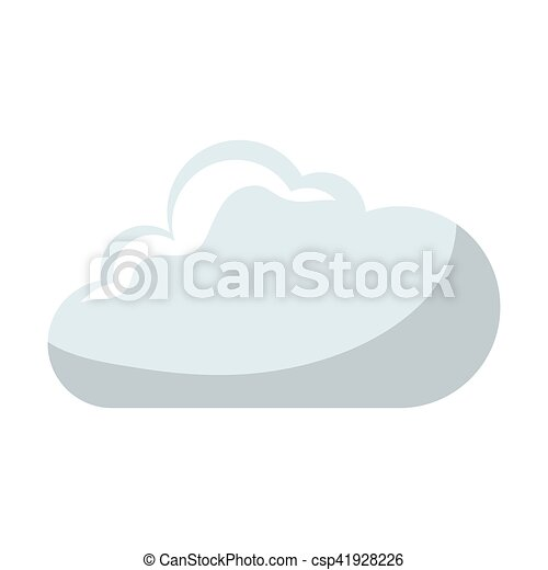 cloud comic isolated icon - csp41928226
