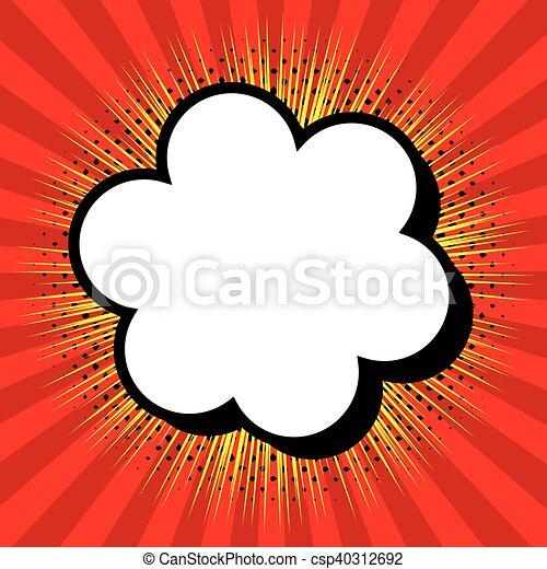 cloud comic speech design - csp40312692