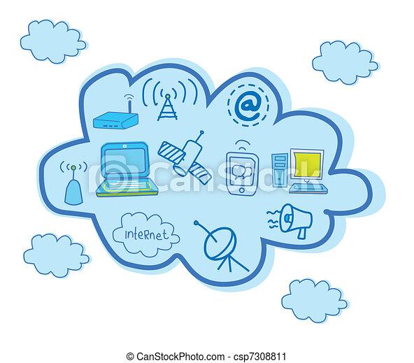 Cloud Computing And Global  - csp7308811