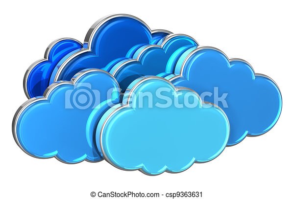 Cloud computing concept - csp9363631