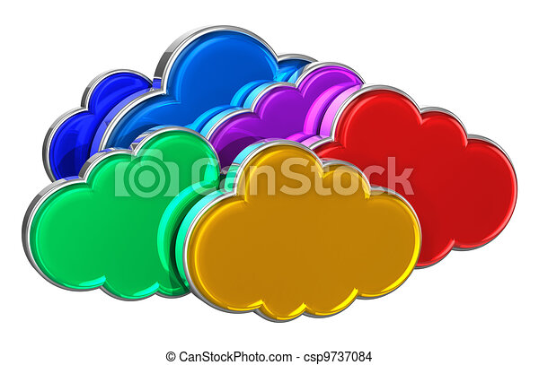 Cloud computing concept - csp9737084