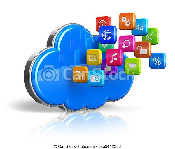 Cloud computing concept - csp9412253