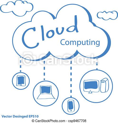 Cloud computing concept - csp9467708
