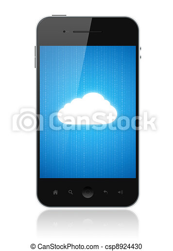 Cloud Computing Connection On Mobile Phone - csp8924430