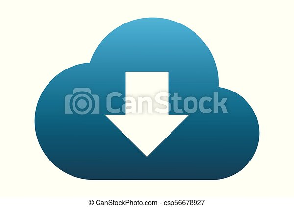 cloud computing data download logo - csp56678927