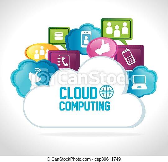 cloud computing data icon - csp39611749