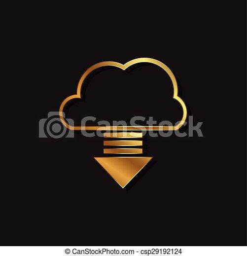 Cloud computing download logo - csp29192124