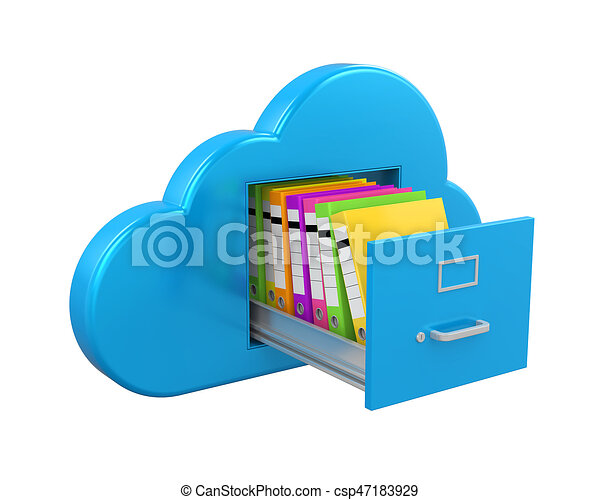 cloud computing file storage isolated on white background clip rh canstockphoto com cloud computing clipart free