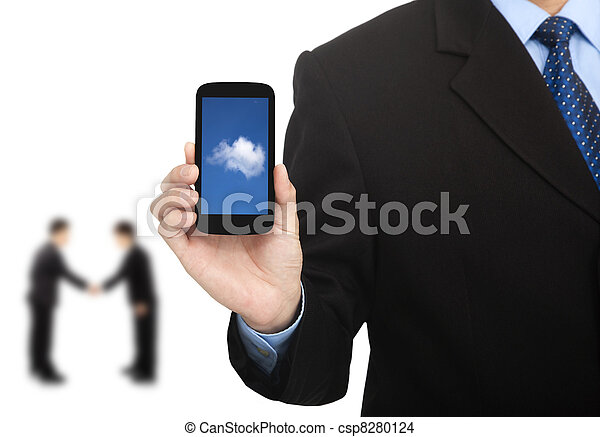 cloud computing on the smart phone and successful business - csp8280124