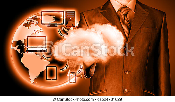 Cloud computing, technology connectivity concept - csp24781629