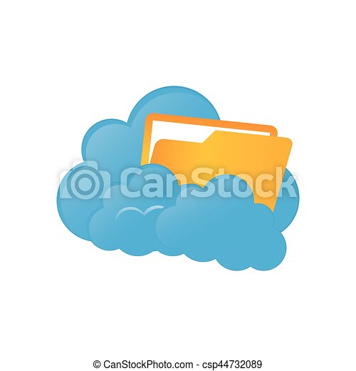 cloud computing technology icon vector illustration graphic rh canstockphoto co uk cloud computing clipart free