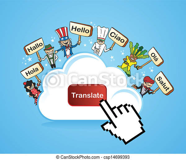 Cloud computing translate concept - csp14699393